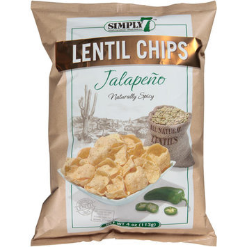 Simply 7 Jalapeno Lentil Chips, 4 oz, (Pack of 12)