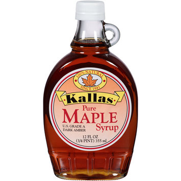 Kallas Pure Maple Syrup, 12 fl oz, (Pack of 12)