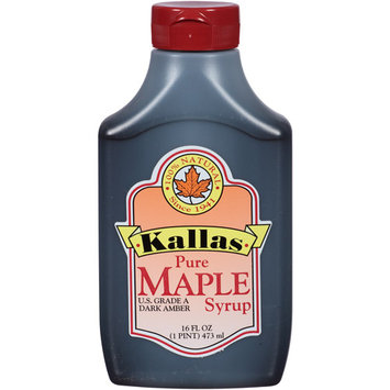 Kallas Pure Maple Syrup, 16 fl oz, (Pack of 12)