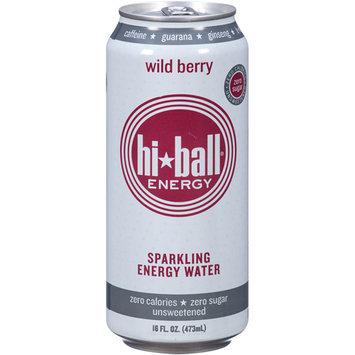 Hi Ball Energy Hi-Ball Energy Wild Berry Sparkling Energy Water, 16 fl oz, (Pack of 12)