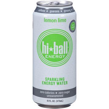 Hi Ball Energy Hi-Ball Energy Lemon Lime Sparkling Energy Water, 16 fl oz, (Pack of 12)