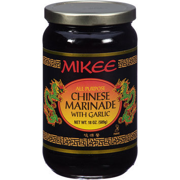 Mikee All Purpose Chinese Marinade with Garlic, 18 oz, (Pack of 12)
