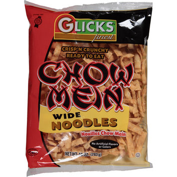 Glick's Finest Chow Mein Wide Noodles, 10 oz, (Pack of 12)