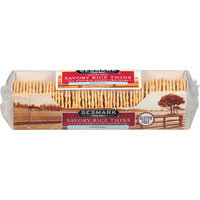 Sesmark Original Savory Rice Thins Crackers, 3.2 oz, (Pack of 12)