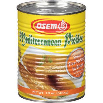 Osem Mediterranean Pickles, 19 oz, (Pack of 12)