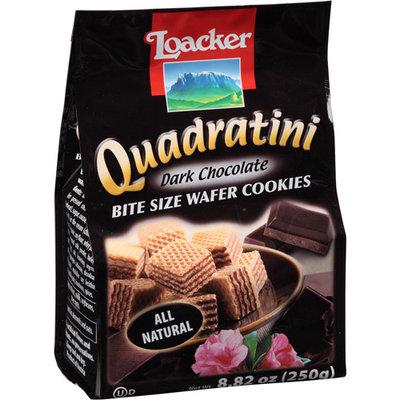 Loacker Quadratini Dark Chocolate Bite Size Wafer Cookies, 8.82 oz, (Pack of, 8)