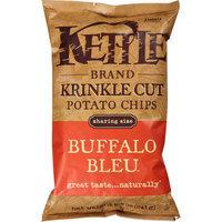 Kettle Brand Buffalo Bleu Krinkle Cut Potato Chips, 8.5 oz, (Pack of 12)