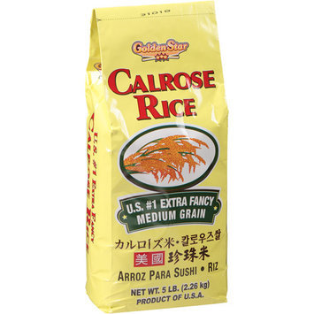 Golden Star Calrose Rice, 5 lbs, (Pack of 8)