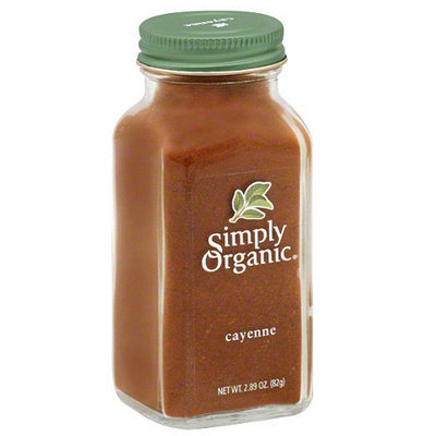 Simply Organic Cayenne Powder, 2.89 oz, (Pack of 6)