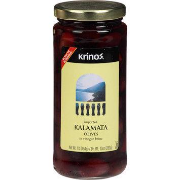 Krinos Kalamata Olives in Vinegar Brine, 16 oz, (Pack of 6)