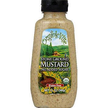 Organicville Stone Ground Mustard, 12 oz, (Pack of 12)