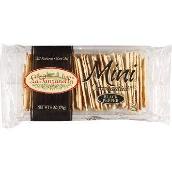 La Panzanella Mini Croccantini Black Pepper Crackers, 6 oz, (Pack of 12)