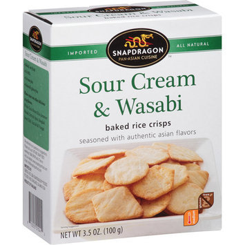 Snapdragon Sour Cream & Wasabi Baked Rice Crisps, 3.5 oz, (Pack of, 6)