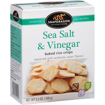 Snapdragon Sea Salt & Vinegar Baked Rice Crisps, 3.5 oz, (Pack of, 6)