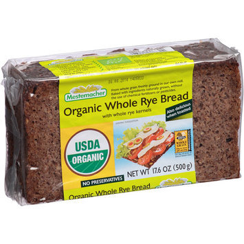 Mestemacher Organic Whole Rye Bread, 17.6 oz, (Pack of 12)