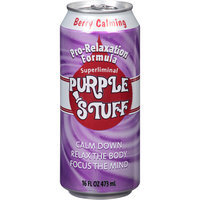 Purple Stuff Berry Calming Beverage, 16 fl oz, (Pack of 12)
