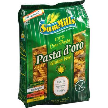 Sam Mills Pasta d'oro 100% Fusilli Corn Pasta, 16 oz, (Pack of 6)