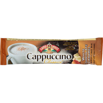 Land O'Lakes Cappuccino Classics White Chocolate Caramel Cappuccino Mix, 0.63 oz, (Pack of 18)