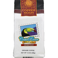 Copper :moon Copper Moon Costa Rican Blend Medium Roast Ground Coffee, 12 oz, (Pack of 6)