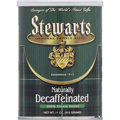 Stewart's Stewarts Naturally Decaffeinated Ground Coffee, 11 oz, (Pack of 6)