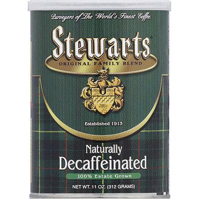 Stewart's Stewarts Naturally Decaffeinated Ground Coffee, 11 oz, (Pack of 6)