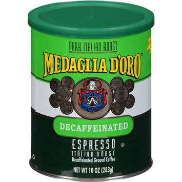 Medaglia D Oro Medaglia d'Oro Espresso Italian Roast Decaffeinated Ground Coffee, 10 oz, (Pack of 12)