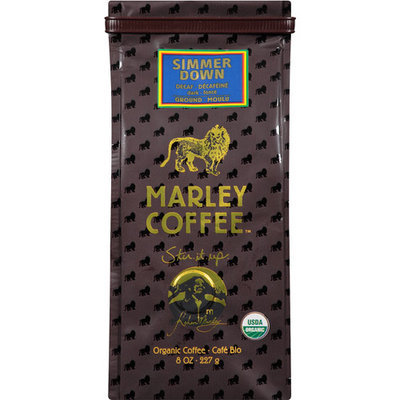 Marley Coffee Simmer Down Decaf Organic Ground Coffee, 8 oz, (Pack of 8)