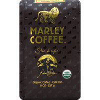 Marley Coffee Lively Up! Espresso Organic Ground Coffee, 8 oz, (Pack of 8)