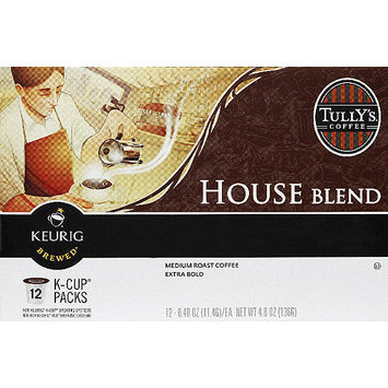 Tullys Keurig Tully's Coffee House Blend Coffee K-Cups, 12 count, 4.8 oz, (Pack of 6)