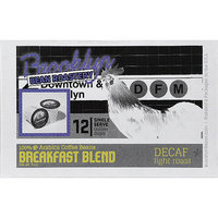 Brooklyn Bean Roastery Breakfast Blend Light Roast Single Serve Decaf Coffee, 12 count, 5 oz, (Pack of 6)