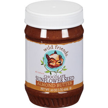 Wild Friends All-Natural Chocolate Sunflower Seed Almond Butter, 16 oz, (Pack of 6)