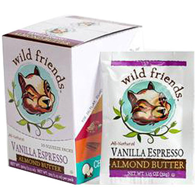 Wild Friends Vanilla Espresso Almond Butter, 1.15 oz, 10 count, (Pack of 10)