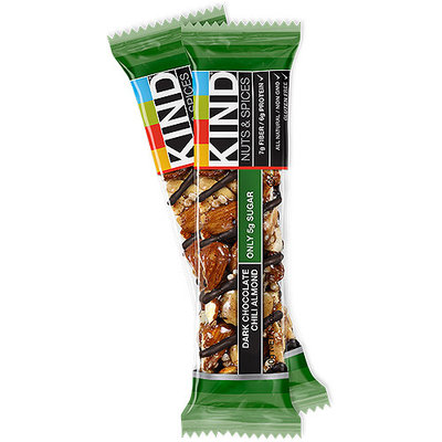 KIND Dark Chocolate Chili Almond Nuts & Spices Bar, 1.4 oz, (Pack of 12)