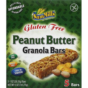Sam Mills Gluten Free Peanut Butter Granola Bars, 1 oz, 5 count, (Pack of 6)