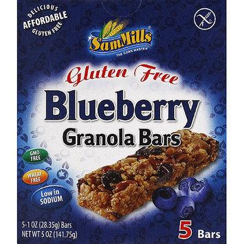 Sam Mills Gluten Free Blueberry Granola Bars, 5 oz, (Pack of 6)