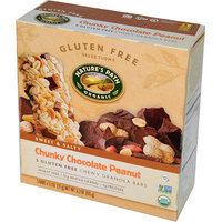 Nature's Path Organic Gluten Free Selections Chunky Chocolate Peanut Chewy Granola Bars, 1.2 oz, 5 count, (Pack of 6)