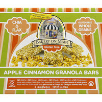 Bakery on Main Gourmet Naturals Apple Cinnamon Granola Bars, 6 oz, (Pack of 6)