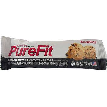 PureFit Peanut Butter Chocolate Chip Premium Nutrition Bar, 2 oz, (Pack of 15)