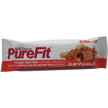 PureFit Peanut Butter Toffee Crunch Premium Nutrition Bar, 2 oz, (Pack of 15)