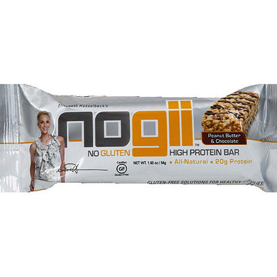 NoGii Peanut Butter & Chocolate High Protein Bar, 1.93 oz, (Pack of 12)