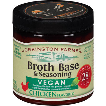 Orrington Farms Vegan Chicken Flavored Broth Base & Seasoning, 6 oz, (Pack of 6)