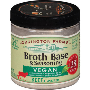 Orrington Farms Vegan Beef Flavored Broth Base & Seasoning, 6 oz, (Pack of 6)