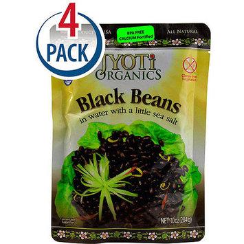 Jyoti Organics Black Beans, 10 oz, (Pack of 6)
