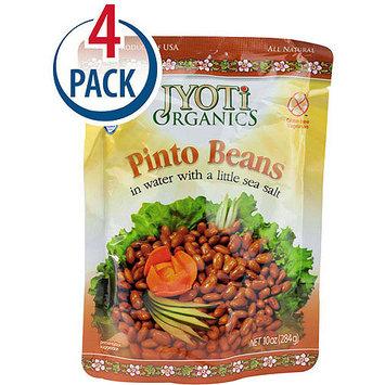 Jyoti Organics Pinto Beans, 10 oz, (Pack of 6)