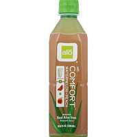 Alo Comfort Watermelon + Peach Aloe Vera Drink, 16.9 fl oz, (Pack of 12)