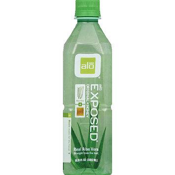 Alo Exposed Original + Honey Real Aloe Vera Drink, 16.9 fl oz, (Pack of 12)