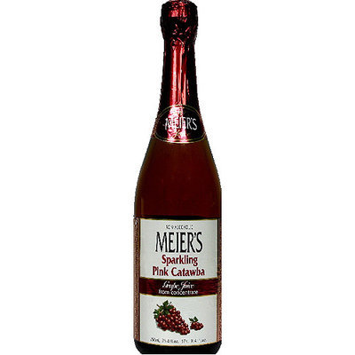 Meiers Meier's Sparkling Pink Catawba 100% Grape Juice, 25.4 fl oz, (Pack of 12)