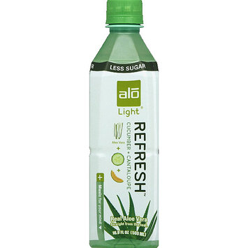 Alo Light Refresh Cucumber + Cantaloupe Aloe Vera Drink, 16.9 fl oz, (Pack of 12)
