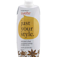 CalNaturale Svelte Spiced Chai Sustained Energy Protein Drink, 15.9 fl oz, (Pack of 6)