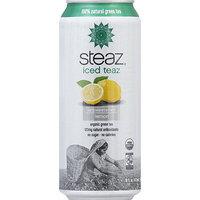 Steaz Iced Teaz Unsweetened Lemon Organic Green Tea, 16 fl oz, (Pack of 12)
